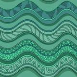 Etnisk sömlös modell av vågor royaltyfri illustrationer
