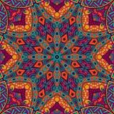 Etnisk stam- modell för abstrakt festlig mandala Royaltyfria Foton