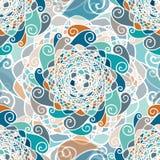 Etnisk vektormodell för abstrakt sömlös boho royaltyfri illustrationer