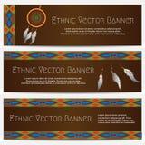 Etniska baner med den dröm- stopparen Royaltyfri Bild