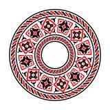 etniska bevekelsegrunder Rund modell i traditionell stil Arkivbilder