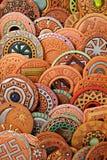 Etniska Clay Beaded Jewelry Arkivbilder