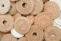 Etniska Clay Beaded Jewelry Arkivfoton