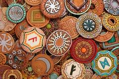 Etniska Clay Beading Jewelry Fotografering för Bildbyråer