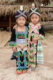 etniska flickor grupperar hmong laos Royaltyfri Fotografi