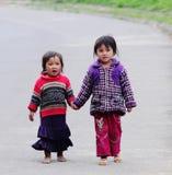 Etniska Hmong barn i Sapa, Vietnam Royaltyfria Bilder