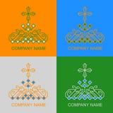 Etniska Logo Set Royaltyfria Bilder