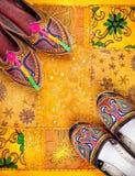 Etniska Rajasthan skor Fotografering för Bildbyråer