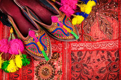 Etniska Rajasthan skor Royaltyfria Foton