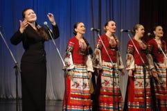 Etniska rysssånger Arkivfoto