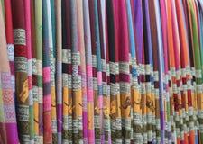 Etniska textiler Royaltyfria Bilder