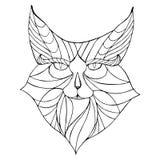 Etniskt djur Stam- mönstrad lös katt Royaltyfri Illustrationer