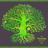Etniskt träd för unik vektorvattenfärg av liv Royaltyfri Foto
