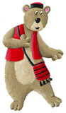Etno bear dancing. Illustration of Etno bear dancing Royalty Free Stock Photography