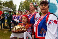 Etnofestival Bobovischanske grono-2016 στην περιοχή Zakarpattya Στοκ Εικόνες