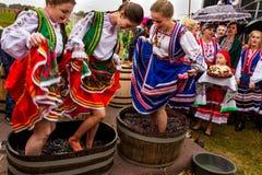 Etnofestival Bobovischanske Grono-2016在Zakarpattya地区 图库摄影