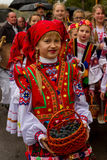 Etnofestival Bobovischanske Grono-2016 i den Zakarpattya regionen Arkivbilder