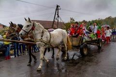 Etnofestival Bobovischanske Grono-2016 i den Zakarpattya regionen Royaltyfria Foton