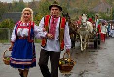 Etnofestival Bobovischanske Grono-2016 i den Zakarpattya regionen Arkivfoton