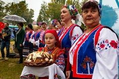 Etnofestival Bobovischanske Grono-2016 nella regione di Zakarpattya immagini stock