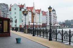 Etnograficzny i handlowy centrum Kaliningrad Obrazy Royalty Free