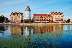 Etnograficzny i handlowy centrum Kaliningrad Obraz Stock