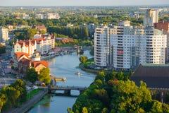 Etnografisch en handelscentrum Kaliningrad Stock Afbeeldingen