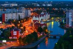 Etnografisch en handelscentrum Kaliningrad Stock Foto