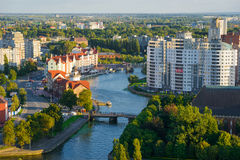 Etnografisch en handelscentrum Kaliningrad Stock Fotografie
