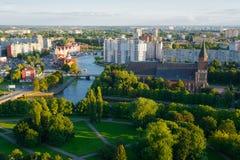 Etnografisch en handelscentrum Kaliningrad Stock Foto's