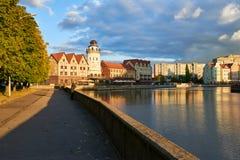 Etnografisch en handelscentrum Kaliningrad Stock Afbeelding