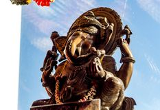 Etnomir Rosja, Marzec, - 2019: Rzeźba Hinduski bóg Ganesha obraz royalty free