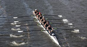 Eton Boat Club races in the Head of Charles Regatt Royalty Free Stock Photo