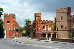 Eton College. Located close to Windsor Castle, is the most famous and prestigious of England's traditional private schools for the upper class Stock Photo