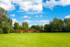Eton College bridge. Bridge in the park Eton College Windsor Royalty Free Stock Image