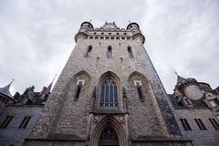 Etrance av den Marienburg slotten royaltyfri bild