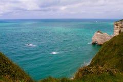 Etretat峭壁,法国 免版税库存照片