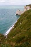 Etretat峭壁,法国 库存照片