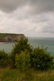 Etretat峭壁,法国 库存图片