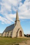 Etretat教会视图  库存图片