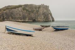 Etretat,法国彻特d'Albatre (雪花石膏海岸)是一部分的 免版税库存照片