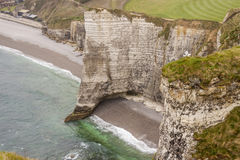 Etretat,法国彻特d'Albatre (雪花石膏海岸)是一部分的 免版税库存图片
