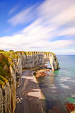 Etretat, Manneporte岩石曲拱。 诺曼底,法国 免版税库存照片