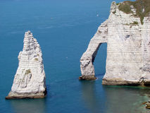 Etretat Aval Cliff Royalty Free Stock Images