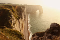 Etretat Aval Cliff in Normandy Royalty Free Stock Image