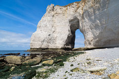 Etretat Aval cliff Stock Photos