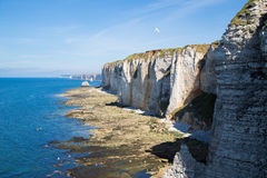 Etretat Aval cliff Stock Images