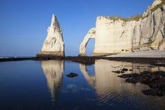 Etretat Aval cliff Stock Image