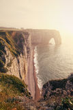 Etretat Aval Cliffs in Normandy Royalty Free Stock Photo