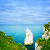 Etretat Aval rock landmark . Normandy, France Stock Photography